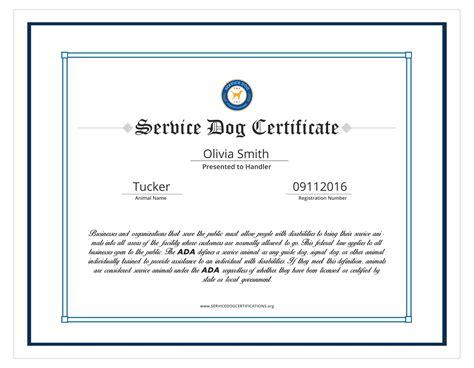Service Dog Certificate Template Best Templates Ideas Service Animal Certificate Template