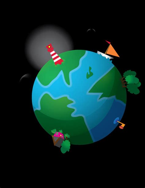 Illustrator Tutorial Earth | how to create a cute earth illustration in vector