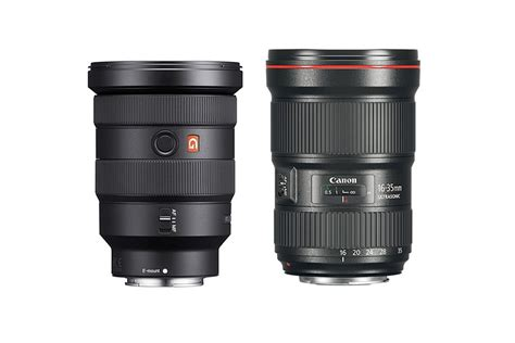Sony Fe 16 35mm F 2 8 Gm sony fe 16 35mm f 2 8 gm vs canon ef 16 35mm f 2 8l iii