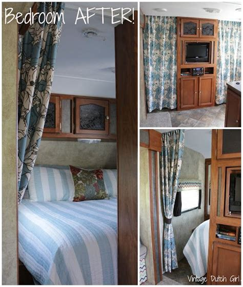 curtains for travel trailers travel trailer makeover new master bedroom and side