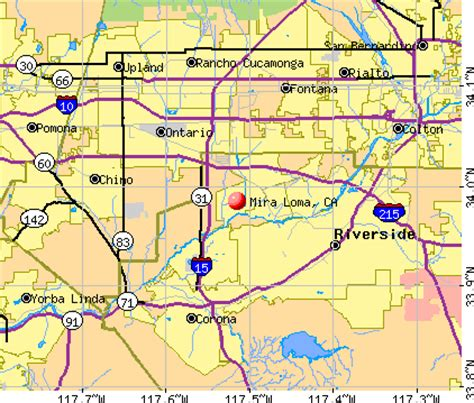 california map loma mira loma california ca 91752 profile population maps