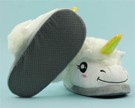 unicorn slippers plush unicorn slippers  men women kids