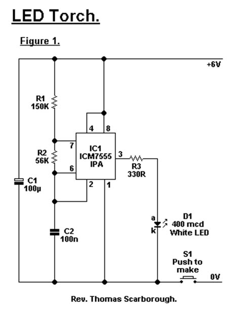 circuit diagram of a torch led torch circuit diagrams schematics electronic projects