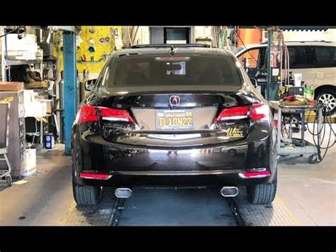 Tlx Exhaust Tips by Acura Tlx Muffler Delete Added Tips