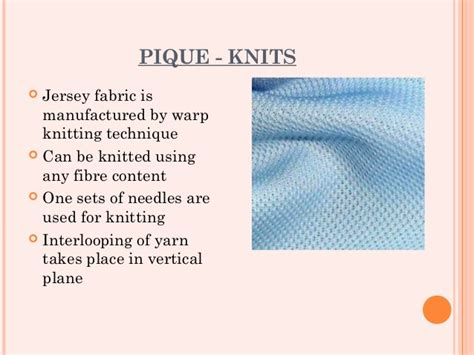 pique knit definition fabric study