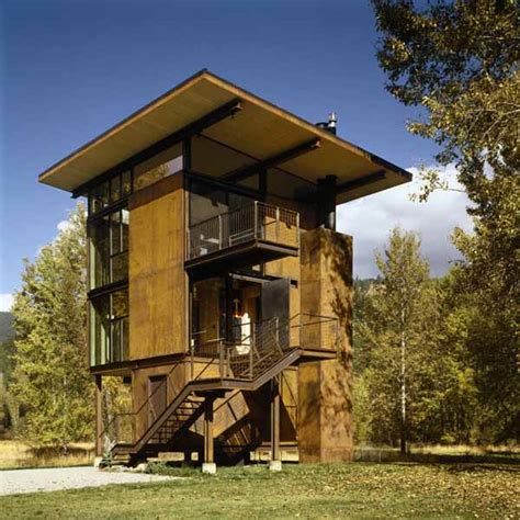 architecture home plans steel cabin design by olson kundig architects modern houses