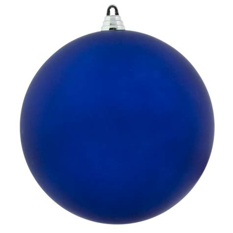 blue shatterproof baubles single 200mm matt baubletimeuk