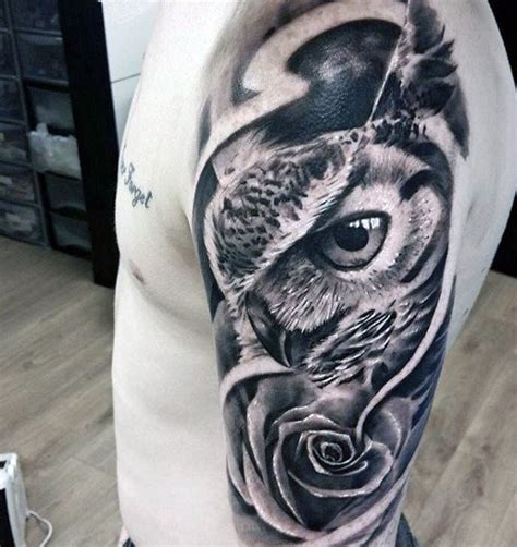 badass half sleeve tattoos collection of 25 great tribal owl on half sleeve