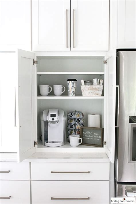 kitchen coffee station cabinet kitchen cabinets organizers that keep the room clean and tidy