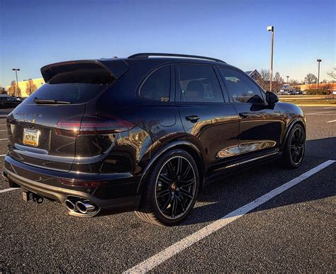 porsche cayenne all black pics 2016 cayenne turbo s in black rennlist porsche