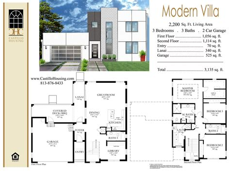 modern floor plan villa studio design best building