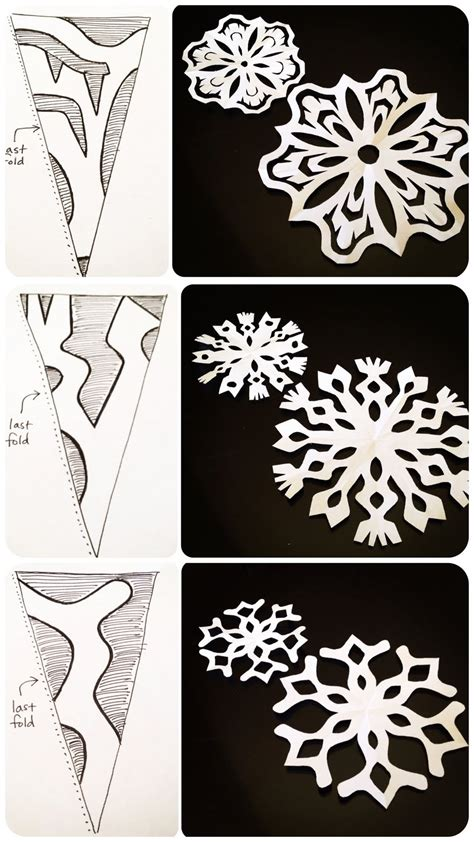 How To Make A Easy Paper Snowflake - pics for gt simple snowflakes pattern to cut