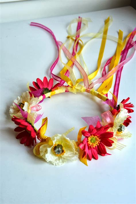 crown craft for aesthetic nest craft ribbon and flower crowns tutorial