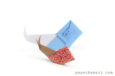 Origami Snail - origami snail tutorial overview of the origami