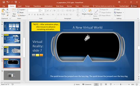 powerpoint templates for virtual reality animated virtual reality powerpoint template