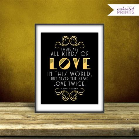 themes in great gatsby with quotes f scott fitzgerald the great gatsby quote print