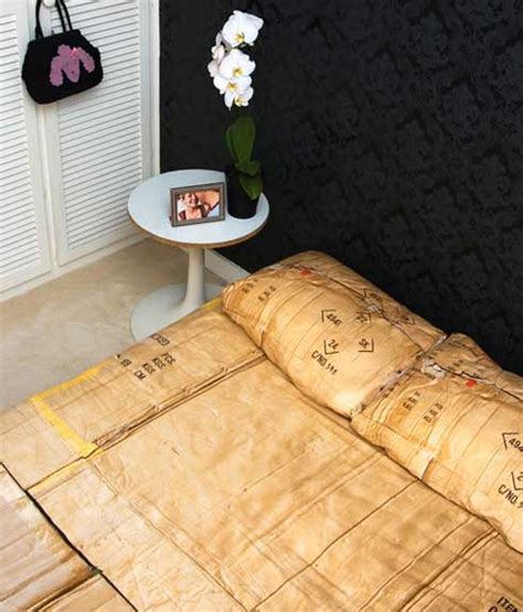 cardboard bed duvet covers inspired by a homeless cardboard box freshome com