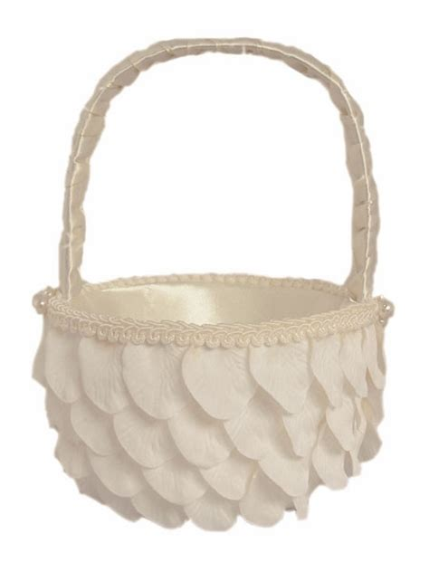 pattern flower girl basket ivory rose pattern design w pearls flower girl basket