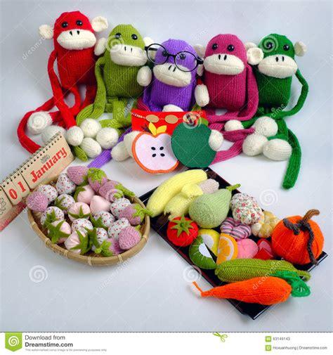 new year monkey stuff family stuffed animal new year monkey stock