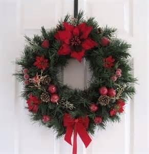 beautiful ponsettia door wreath take 4 walls pinterest