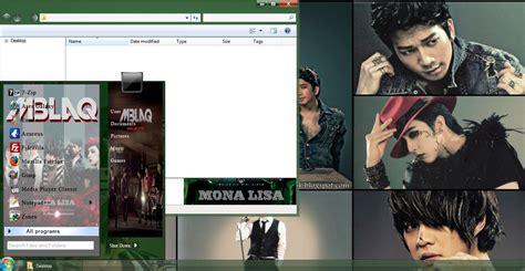 kpop theme download free my kpop fanatik mblaq mona lisa windows 7 theme download