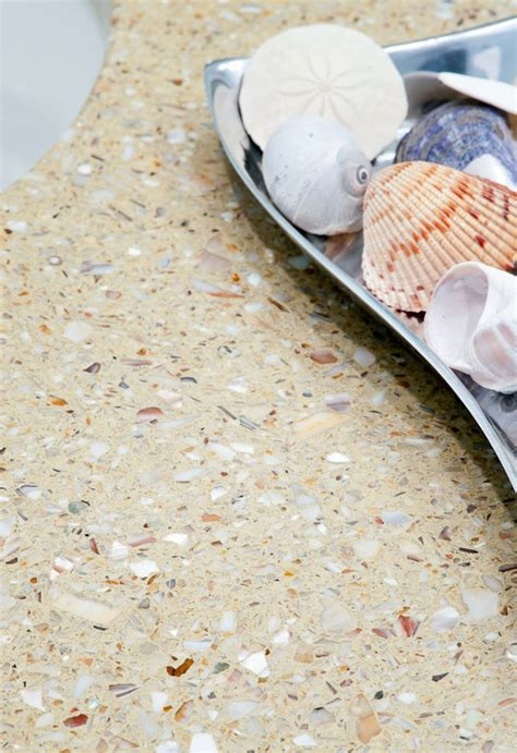 Glass Chips For Concrete Countertops by Bathroom Vanity In Fuezstone Recycled Glass
