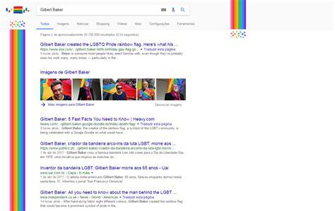 doodle do de hoje gilbert baker criador da bandeira do arco 237 ris recebe
