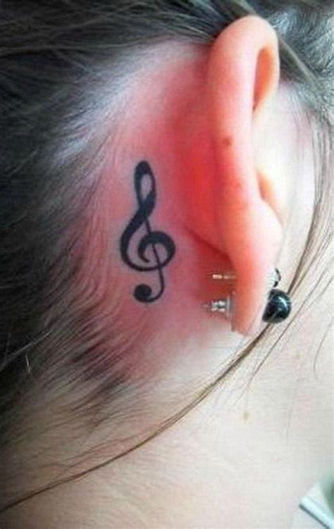music note tattoo designs behind ear 35 awesome tattoos note notes and