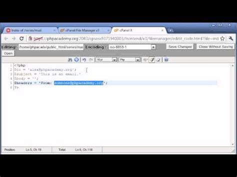 tutorial php send email beginner php tutorial 98 sending an email part 1 youtube