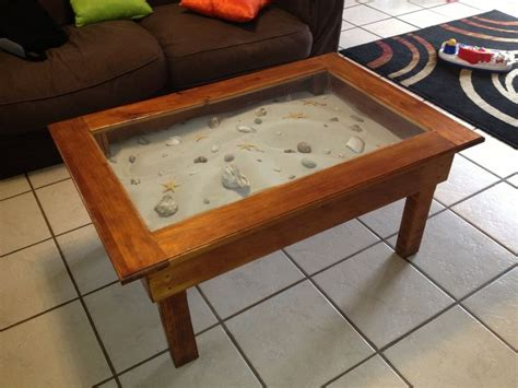 Sand Coffee Table A Coffee Table Display Cabinet Filled With Sea Sand And Shells Current Projects Pinterest