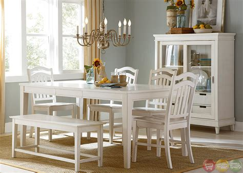 cottage cove bench seating casual dining room set dining sets with bench dining sets with rolling chairs