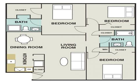 2 bedroom house map 3 bedroom 1200 sq ft house plans 3 bedroom apartments map