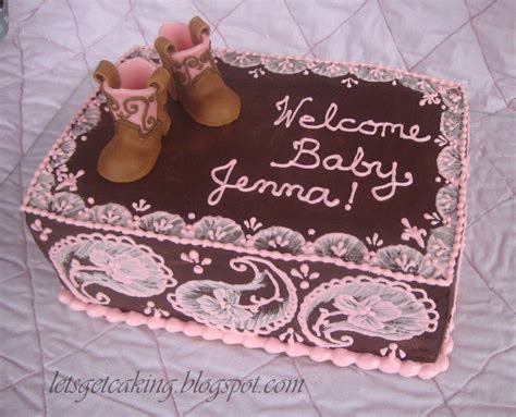 Strawberry Baby Shower Cake by A Cake For My Friends Western Themed Baby Shower Its A