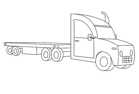 18 wheeler coloring pages coloring pages