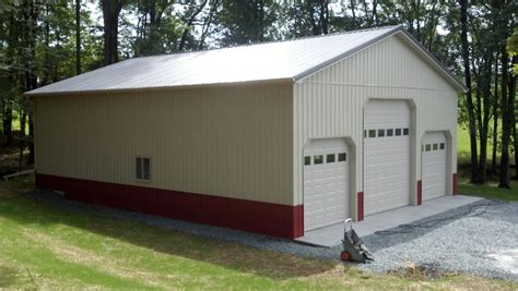 used pole barns 36x48x14 commercial garage in zions crossroads va