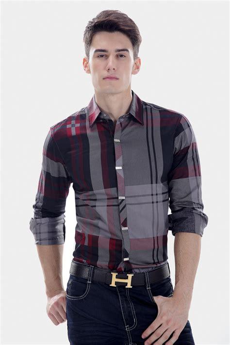 Hq 19037 Blue Stripe Button Outer Blouse button up shirts mens artee shirt