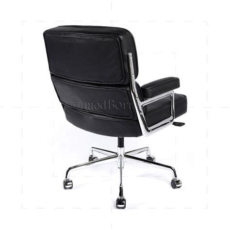 EA104 Eames Style Office Lobby Black Leather Executive