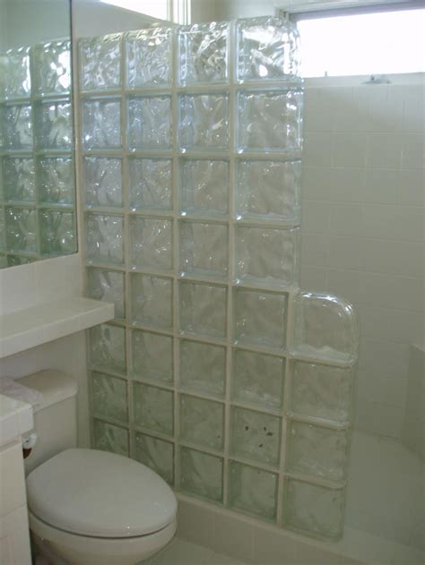 glass block bathroom ideas glass blocks bathroom delightful awesome small
