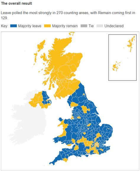 map uk leave remain the brexit vote pressure to up the united kingdom
