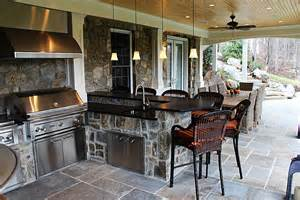 Outdoor Living Spaces With Fireplace - photo gallery of outdoor kitchens fireplaces amp fire pits
