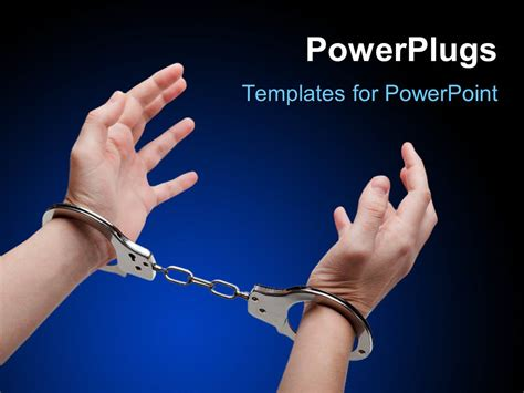 law templates for powerpoint free download powerpoint template police law steel handcuffs arrest