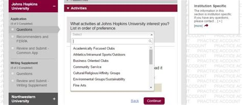 Common Application Activities Section by The Ultimate Guide To Applying To Johns