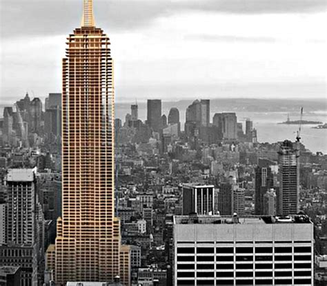 layout of the empire state building architect builds empire state building replica out of wood