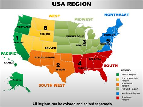 map of south western usa usa south west region country editable powerpoint maps