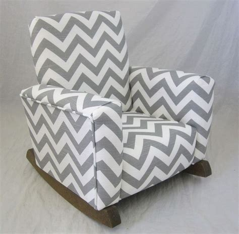 Grey Chevron Chair by New Childrens Upholstered Rocking Chair Zig Zag Chevron