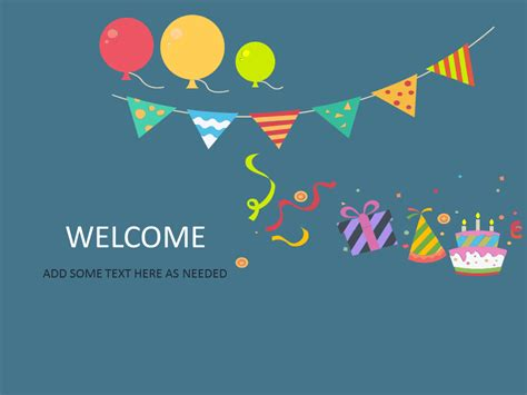 Welcome Template title slide templates for powerpoint and keynote
