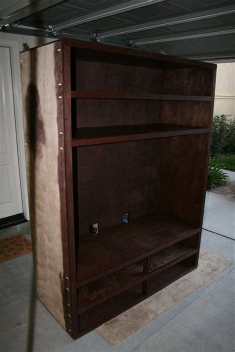built in media cabinet by brad lumberjocks com