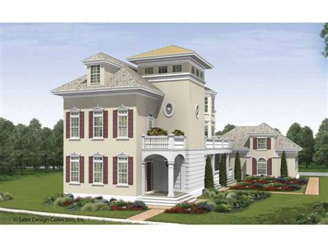 house three stories home plan homepw09340 4491 square foot 5 bedroom 5