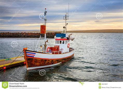 small fishing boat equipment icelandic fishing boat stock image image of nobody