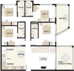 House Plans 4 Bedrooms One Floor 4 Bedroom House House Floor Plans And Floor Plans On